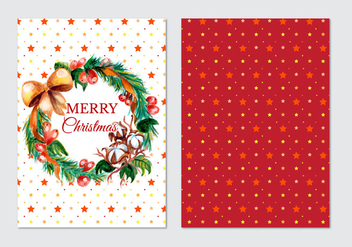 Beautiful Free Vector Christmas Card - vector gratuit #409983