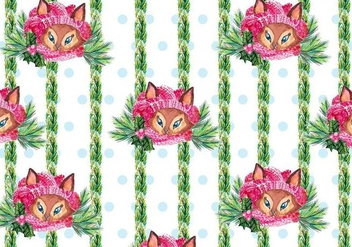 Cute Free Vector Background With Fox - vector gratuit #409993