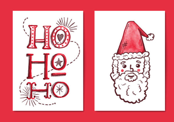 Free Christmas Cards - vector gratuit #410063