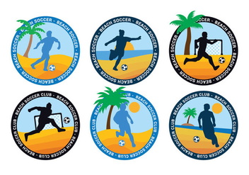 Beach soccer vector - Free vector #410143