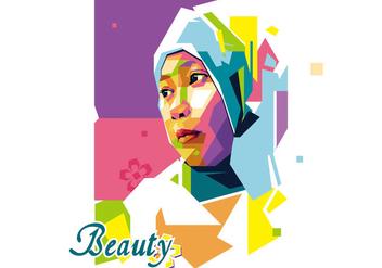 Beauty Girl - Popart Portrait WPAP - Free vector #410243
