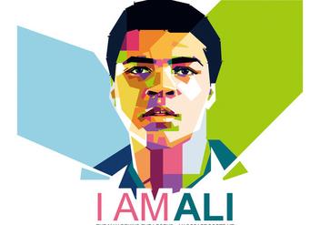 I Am Ali - WPAP - vector gratuit #410253