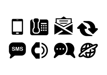 Comunications icons - vector gratuit #410333
