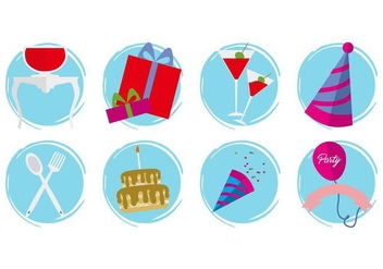 Free Birthday Icons Vector - Free vector #410343