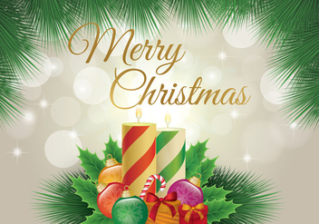 Merry Christmas Wallpaper - vector #410513 gratis