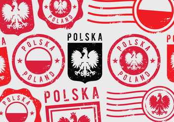 Poland Grunge Postal Stamps - Free vector #410543