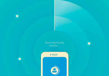 Communication To Nearby Devices Illustration - Free vector #410623