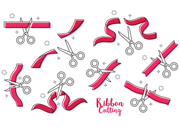 Free Ribbon Cutting Vector - vector gratuit #410763