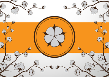 Cotton flower vector illustration - Free vector #410993