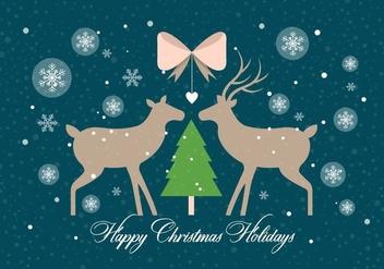 Free Christmas Vector Deers - бесплатный vector #411063