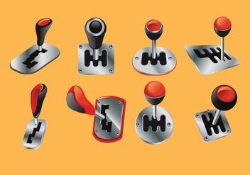 Set Vector Illustration Car Shift Gear 3D looks - Kostenloses vector #411183
