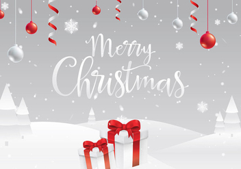 Christmas White Background Free Vector - vector gratuit #411603