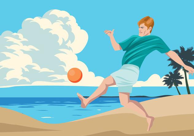 Beach Soccer Sport - Free vector #411643