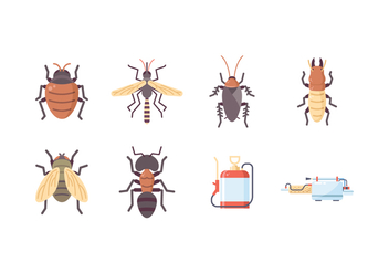Free Pest Control Icons - Kostenloses vector #411673