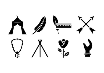Bohemian vector icons - Free vector #411703