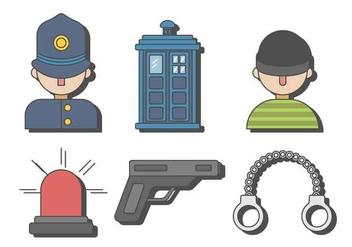 Free Police Burglar Vector - Free vector #411713