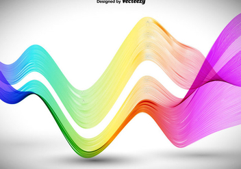 Abstract Colorful Wavy Lines - vector gratuit #411953