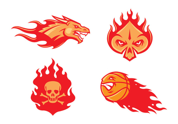 Free Flame Mascot Vector - Kostenloses vector #412063