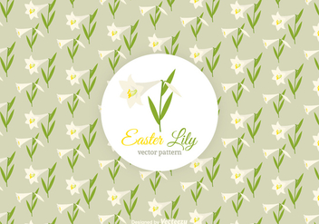 Free Easter Lily Vector Pattern - Free vector #412073