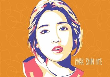 Park Shin Hye - Korean Style - Popart Portrait - vector gratuit #412113