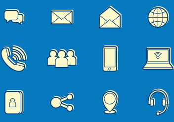 Email and communication icons - Free vector #412193