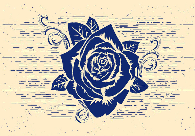 Free Vector Rose Stencil - Free vector #412543