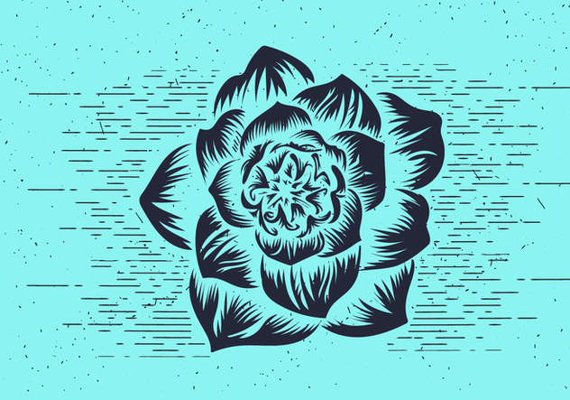 Free Vector Flower Stencil - Free vector #412553