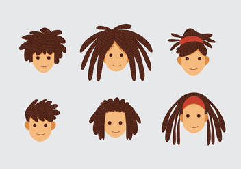 Dreads Hair Style - Free vector #412773