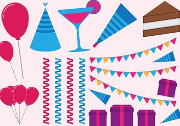 Happy Birthday Set - Free vector #412813
