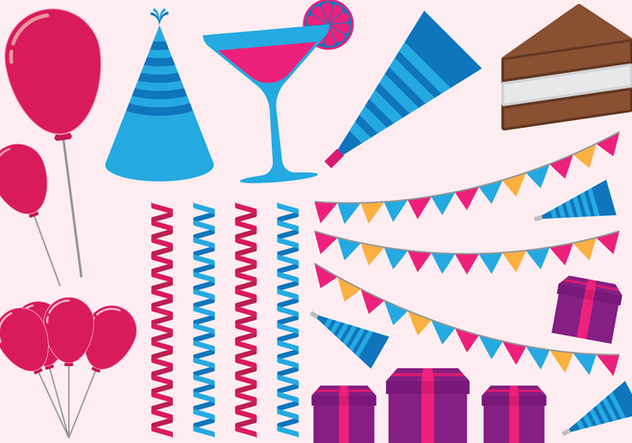 Happy Birthday Set - vector gratuit #412813
