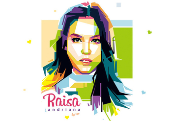 Beautiful Girl - Raisa Andriana - WPAP - бесплатный vector #412923