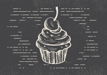 Free Hand Drawn Muffin Vector Background - vector gratuit #413183