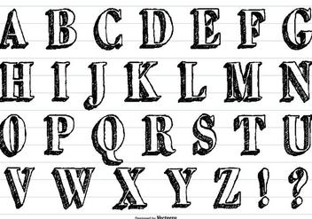 Hand Drawn Sketchy Vector Alphabet - Free vector #413313