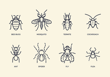 Free Pest & Insect Icons - бесплатный vector #413363