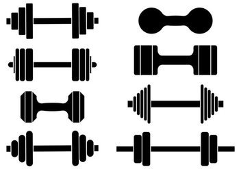 Free Dumbell Icons Vector - Free vector #413433