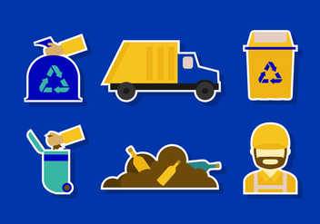 Flat Landfill Icon - Free vector #413693