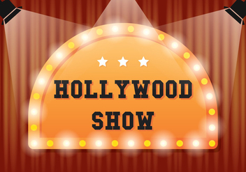 Hollywood Light Illustration - Free vector #413843