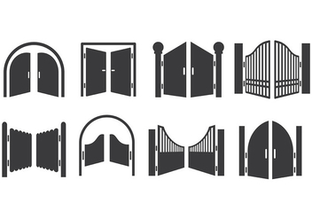 Free Open Gate Icons Vector - Free vector #413883