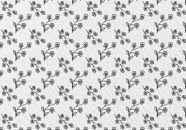 Free Vector Flowers Pattern - Free vector #413913