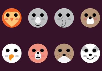 Animal Head Icon Vector - vector gratuit #413923