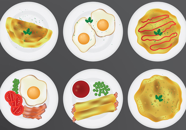 Free Omelet Icons Vector - Free vector #413943
