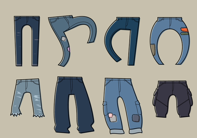 Blue Jean Free Vector - Free vector #413953