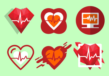 Free Heart Rate Vector Illustration - Kostenloses vector #414063