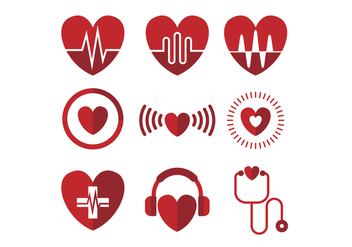 Free Heart Icon Vector - vector gratuit #414083