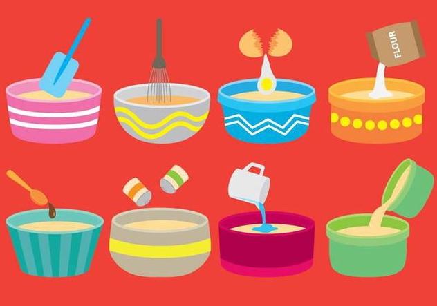Mixing Bowl Icons - Free vector #414243