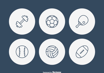 Free Sport Line Vector Icons - Free vector #414293