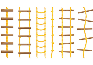 Free Rope Ladder Icons Vector - vector gratuit #414333