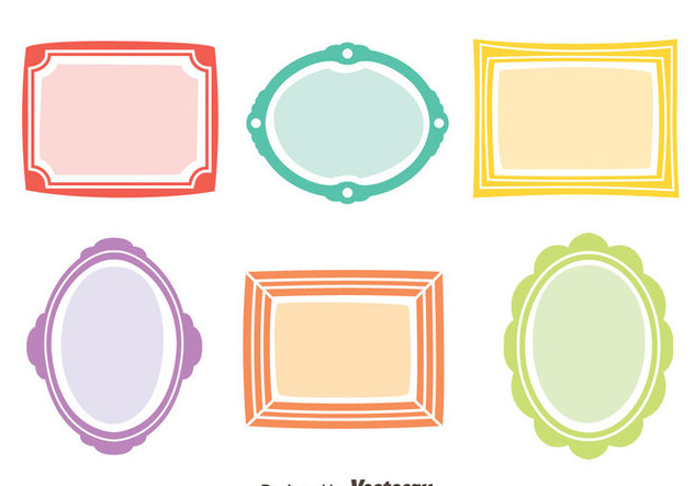 Colorful Frame Vector Set - Free vector #414393