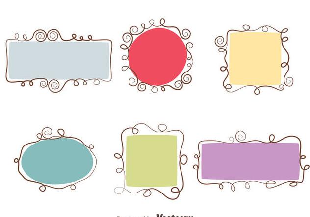 Swirl Frame Vector Set - Kostenloses vector #414403