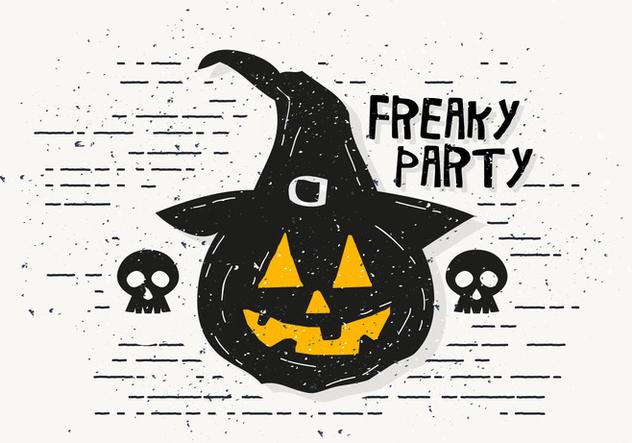 Freaky Halloween Pumpkin Vector Illustration - Kostenloses vector #414453